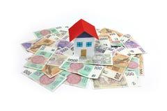 Czeski pieniądze - dom, dom Obraz Stock