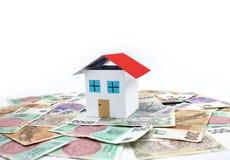 Czeski pieniądze - dom, dom Zdjęcie Stock
