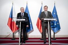 Milos Zeman Necas i Petr Obrazy Royalty Free