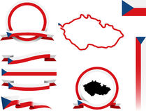 Czeski sztandaru set Obrazy Stock