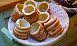 Czeski tradycyjny tort lub deser Obrazy Stock