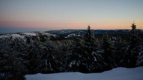 Czeski zima krajobraz Zdjęcie Royalty Free