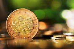 Czeskie monety Obrazy Royalty Free