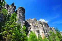 Czeskie skały Zdjęcie Royalty Free