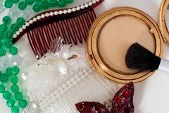 czesze biżuterii włosianego domowej roboty makeup Obrazy Stock