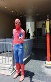 Czlowiek-pająk w Holliywood fotografia stock