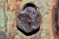 Czmycha który był ośniedziałym, czarniawym brązem, pentagon kształtujący zdjęcia stock
