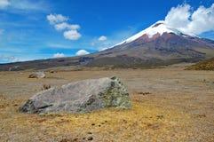 Czołowy widok Cotopaxi wulkan Zdjęcia Royalty Free