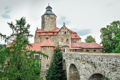 Czocha - médiéval, château défensif photos stock