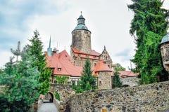 Czocha - medievale, castello difensivo fotografie stock