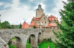 Czocha - medievale, castello difensivo immagine stock