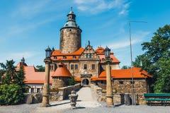 Czochakasteel op blauwe hemel, Polen Royalty-vrije Stock Foto's