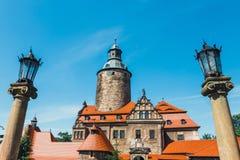 Czochakasteel op blauwe hemel, Polen Royalty-vrije Stock Fotografie