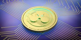 Czochra, cryptocurrency Czochra na elektronicznego obwodu tle ilustracja 3 d ilustracji