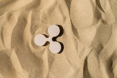 Czochra znak Na piasku obrazy stock