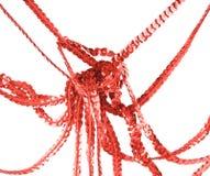 czochrający abstrakcjonistyczny czerwony faborek zdjęcie stock