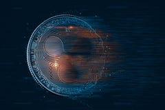 Czochry cyfrowa waluta ilustracja 3 d Zawiera ścinek ścieżkę obrazy stock