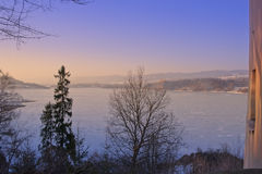 Czorsztyn Lake from Niedzica Castle Royalty Free Stock Photo