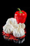 Garlick i dziki róży ziarno Obrazy Royalty Free