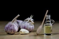 Czosnek najlepszy specyfik dla grypy Syrop przygotowywający od uzdrawia obrazy stock
