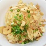 czosnków smażący ryż Fotografia Stock