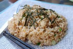 czosnków smażący ryż Fotografia Royalty Free