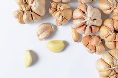 Czosnków zdrowie jedzenie gryzącego zapach Zdjęcie Royalty Free