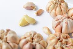 Czosnków zdrowie jedzenie gryzącego zapach Obraz Stock