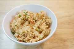 Czosnki smażący ryż Zdjęcia Stock