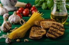 Czosnku chleb z pesto Obraz Royalty Free