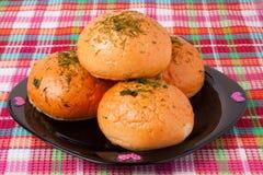 czosnku chlebowy talerz obraz royalty free