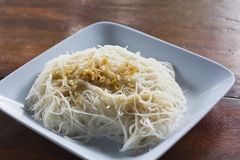 czosnku kluski ryż Fotografia Royalty Free
