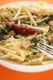 czosnku ziele makaronu talerza biel Obraz Stock
