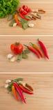 czosnku zielony papryki sałatki pomidor Obraz Royalty Free