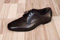 człowiek jest skórzane buty Zdjęcia Stock