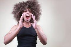 człowiek krzyczeć Zdjęcia Stock