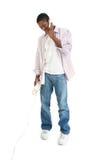 człowiek mówienia telefon Fotografia Stock