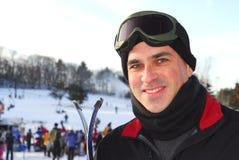 człowiek na nartach Fotografia Royalty Free