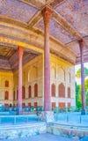 Czterdzieści kolumn pałac w Isfahan, Iran fotografia royalty free