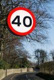 Czterdzieści mil na godzinę znak. obraz royalty free