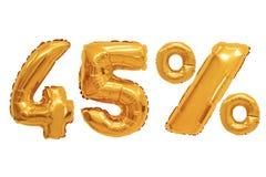 Czterdzieści pięć procentów od balonu pomarańczowego koloru obraz royalty free