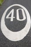 Czterdzieści prędkości ograniczenia znak Fotografia Stock
