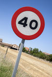 Czterdzieści prędkości znak Fotografia Stock