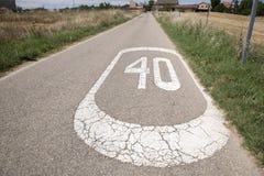 Czterdzieści prędkości znak obraz stock