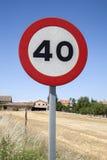 Czterdzieści prędkości znak fotografia royalty free