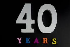 Czterdzieści rok zdjęcia royalty free