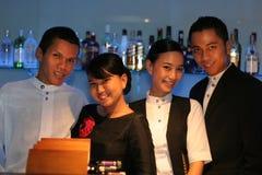 czterech pracowników baru Fotografia Royalty Free