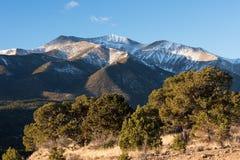 Czternaście Tysiąc Nożna góra Antero przy 14.269 ciekami Obrazy Royalty Free
