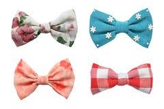 Cztery łęków krawata kolekcja Fotografia Royalty Free
