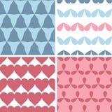 Cztery śmiałych kształtów wzorów tła dopasowywa bezszwowy set Fotografia Royalty Free